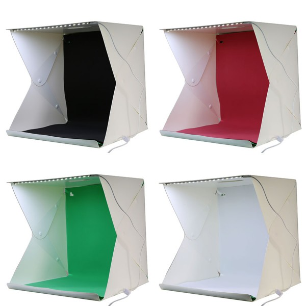 Mini Folding Studio Diffuse Soft Box With LED Light