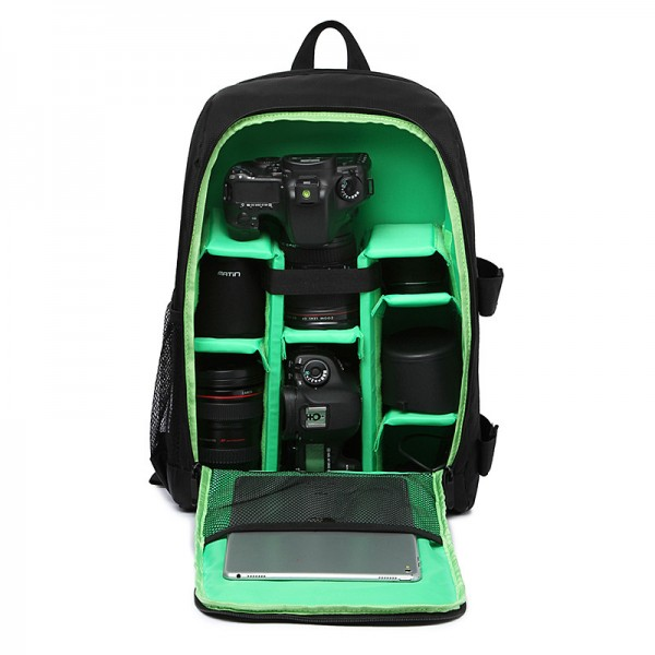 Upgrade Waterproof Digital DSLR Photo Padded Backpack